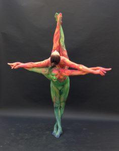 Akrobatik und Bodypainting